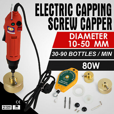 Handheld Electric Bottle Capping Machine 10-50mm Driver Up EASY OPERATION