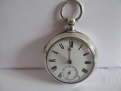 1878 pair cased pocket watch solid silver very good condition and working