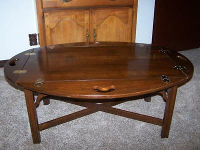 Vintage Solid Oak Butlers Table / Coffee Table