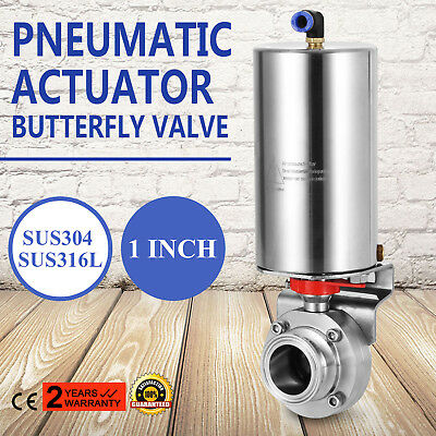 """1"""" Sanitary Stainless Steel 304 Clamp Multi-Position Handle Butterfly Valve"""