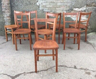 Vintage Beech & Plywood Church Chapel Pub Restaurant Cafe Chairs 58 available