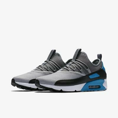 best sneakers ea2b6 0e124 Nike Air Max 90 EZ Shoes Gray Blue White Black AO1745-004 Mens NEW