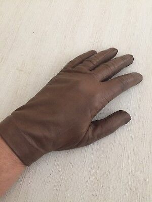 Kid Leather Gloves Size 7 Unlined. Vintage. Rarely Worn