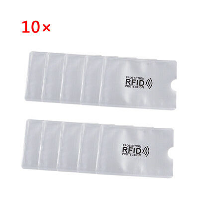 10pcs Credit Card Passport Cover Anti-demagnetizing Protector Shielded Sleeve