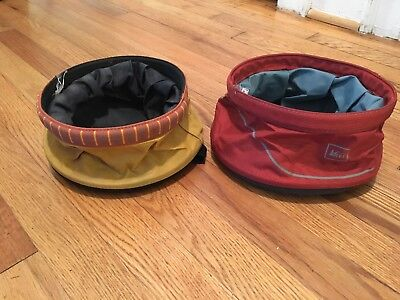 Pet Travel Water Bowl Collapsible Dog Feeder Portable Dish For Hiking REI