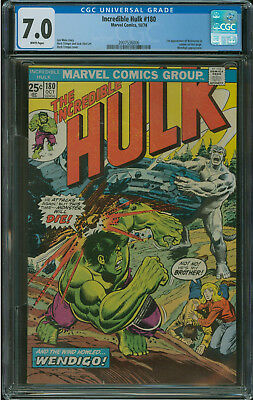 Incredible Hulk #180 CGC 7.0 1st appearance of Wolverine in Cameo
