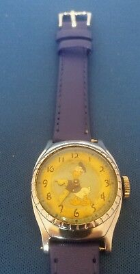 Rare 1949 Ingersoll Disney Birthday Glowing Dial Donald Duck Character Watch Wow