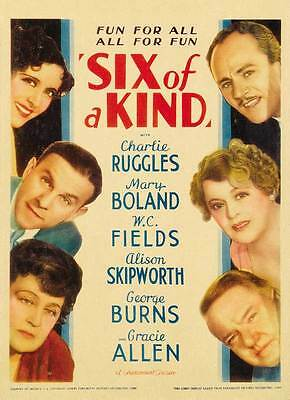 """W.C. FIELDS - """"Six of a Kind"""" - with Burns & Allen - 1934 Comedy Classic! - DVD"""