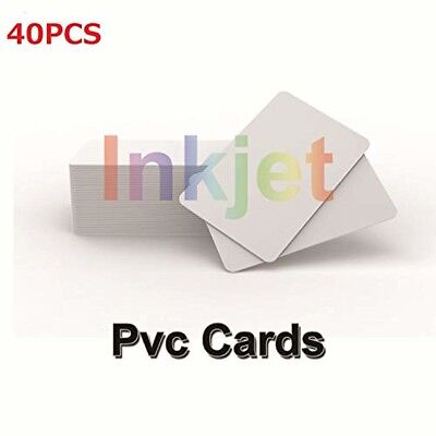 Inkjet Printable PVC ID Cards Compatible Epson and Canon Inkjet Printers, CR80 3