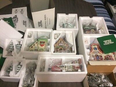 6x Heritage Village Collection Building Lot Dept 56 North Pole With Accessories