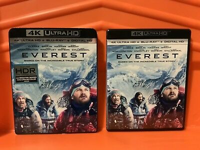 Everest [4K+Blu-ray+SlipCover] EXCELLENT, NO DIGITAL, AUTHENTIC, W/SLIPCASE