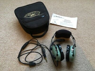 David Clark Aviation Headset Model H10-13.4 VGC with carry bag & instructions