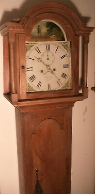 "Antique  Pine   "" Lough  "" Hunting Dial Grandfather / Longcase Clock"