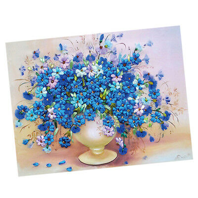 DIY Ribbon Embroidery Flower Painting Kit Stamped Cross Stitch Accessories