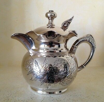 Lyons Silver Co. Ornate Silverplate Creamer
