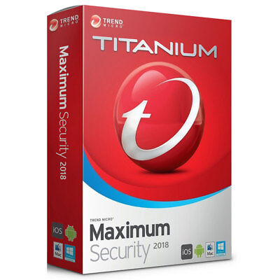 Trend Micro Maximum Security 12 2018 2019 2 Year 5 Devices Licence Key