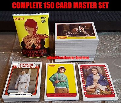 2018 Topps Stranger Things Complete 150 Card Master Set - Base Set + 3 Sub Sets