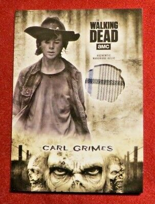 2018 Topps Walking Dead Hunters and the Hunted Carl Grimes Relic SSP #R-CG