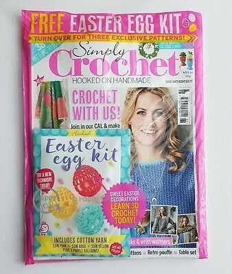 Simply Crochet  Issue 68 with Free Easter Egg Kit (Includes Cotton Yarn)