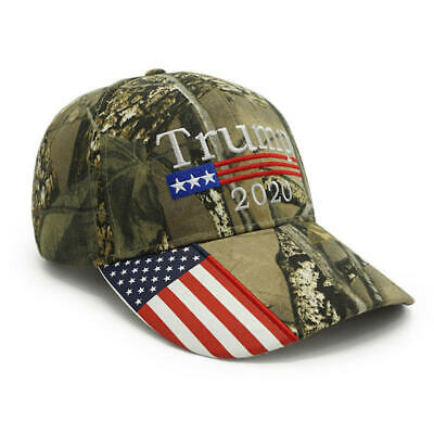 New President Donald Trump 2020 Cap Camouflage USA Flag Baseball Caps Army Hat