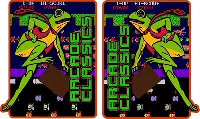 Frogger Themed Arcade Classics Side Art Decals  - Mame or Multicade - 3M