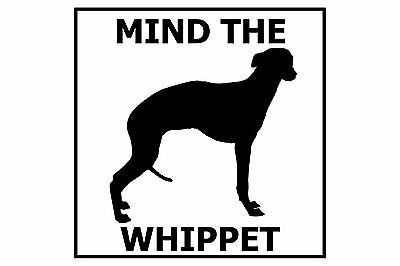 Mind the Whippet - Gate/Door Ceramic Tile Sign