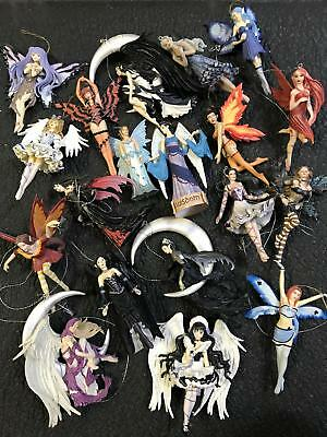 Vtg Large LOT of Painted Sexy Magical Mystic Fairy Fairies Figurines Ornaments