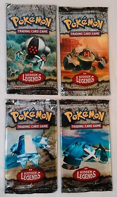 4x Pokemon EX Hidden Legends Booster Packs Factory Sealed All Four Arts