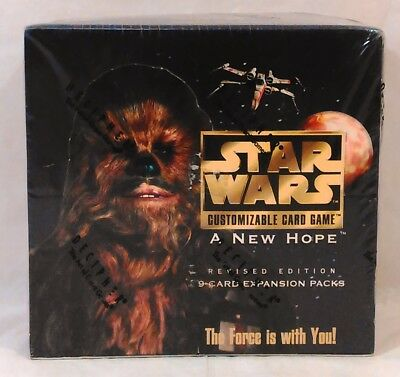 Star Wars CCG A New Hope Revised Edition Expansion Pack Factory Sealed Box
