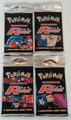 4x Pokemon Team Rocket Booster Long Packs Factory Sealed All Four Arts
