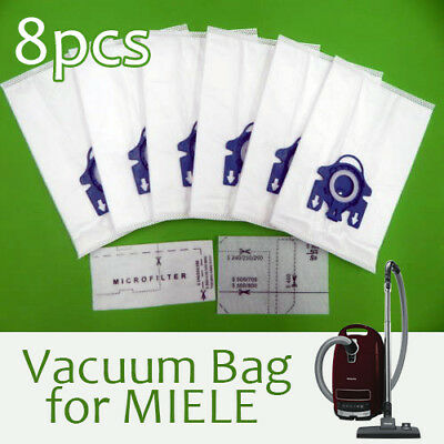 6 x MIELE GN Blue COMPLETE C2 C3 S2 S5 S8 S5210 S5211 S8310 VACUUM CLEANER BAGS