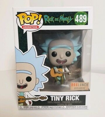 Funko PoP! Rick And Morty TINY RICK (W/ Guitar) BOX LUNCH exclusive -- IN-HAND