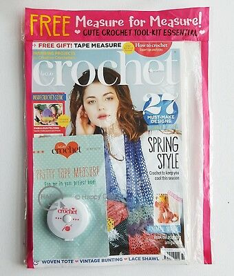 Inside Crochet  Issue 89 with Free Gift of Pretty Tape Measure