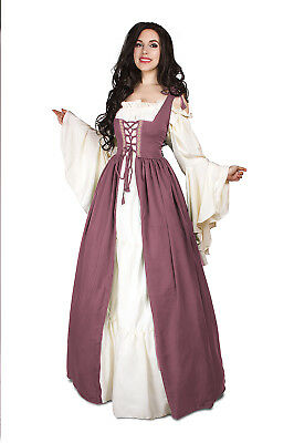 Renaissance Medieval Irish Costume Rose Over Dress ONLY Fitted Bodice 2xl/3xl