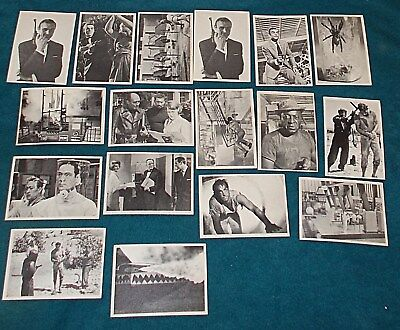 17 Very Nice Condition JAMES BOND Secret Agent 007 Trading Cards From 1965