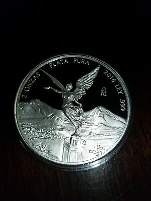 PROOF LIBERTAD - MEXICO - 2016 2 oz Proof Silver Coin in Capsule