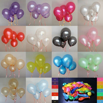 "20/60pcs 10"" Pearl Latex Balloons Xmas Birthday Wedding Party Baby Shower Decor"