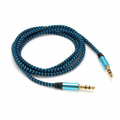 1M 3.5mm to 3.5mm Aux Cable Nylon Jack Audio Cable Male Kabel Gold Plug