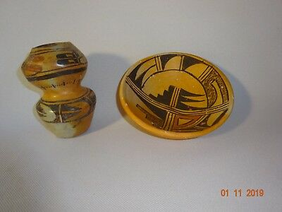 Pair -  Native Hopi Indian Pottery Pieces