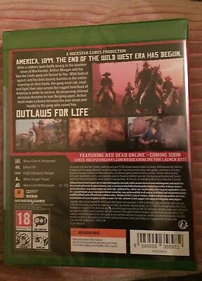 Red Dead Redemption 2, (Xbox One, 2018) BRAND NEW & SEALED.