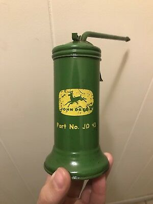 Vintage JD 93 JOHN DEERE green farming oil can oiler