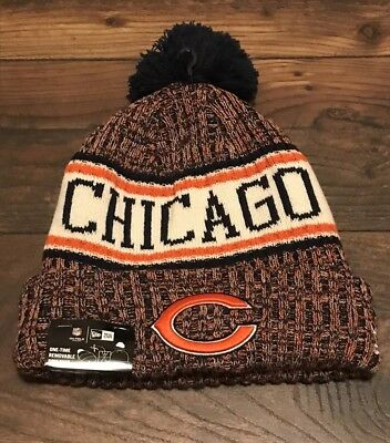 sports shoes 6b97f fc69f Chicago Bears 2018 Nfl New Era Official On Field Sideline Beanie Knit Hat