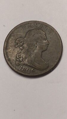 1806 Draped Bust Half Cent Coin Fantastic