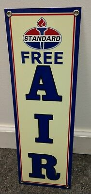 Standard Amoco gas oil gasoline Free Air sign .. large