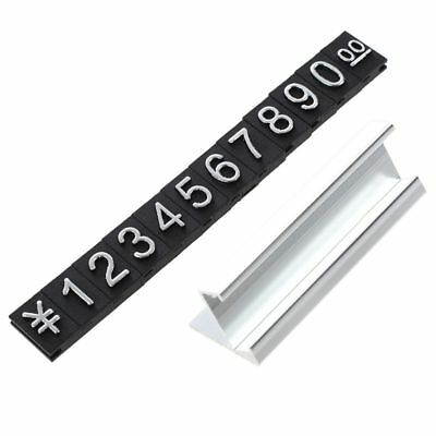 Jewelry store metal ground Arabic numbers combined price tags 10 groups N7P3