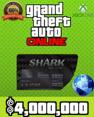 GTA V / 5- Megalodon Shark Cash Card 8,000,000 - PS4 - SAME DAY