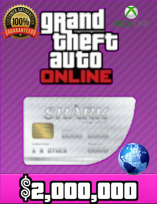 Grand Theft Auto V Online Xbox One: Megalodon Sonic Shark Cash - $2,000,000