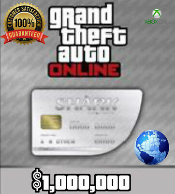 Grand Theft Auto V Online Xbox One: Great White Shark Cash - $1,000,000