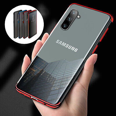 For Samsung S10 5G S10 + Note 10 Pro Case Plating Hybrid Rubber Clear Slim Cover