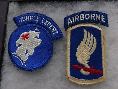 Vietnam War Cut Edge  173Rds  Airborne Patch And Jungle Expert Patches
